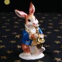 <サックスうさぎ ジュエリーボックス>サックスウサギ 兎 兔 楽器 オブジェ オーケストラ 習い事 ...