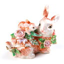 【訳あり】 超目玉 仲良しウサギのクリスタル付き小物入れ 寄り添う姿に癒されます ギフト 卒業 入学 可愛い 誕生日プレゼント 女性 ピックアップ 半...