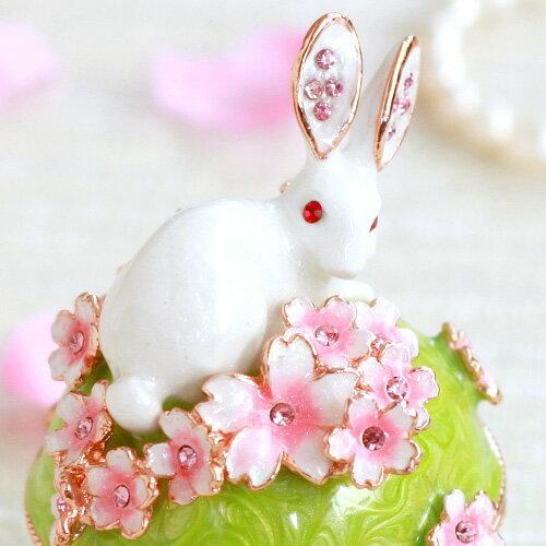 ジュエリーボックス うさぎと桜B さくら 春 ...の紹介画像2