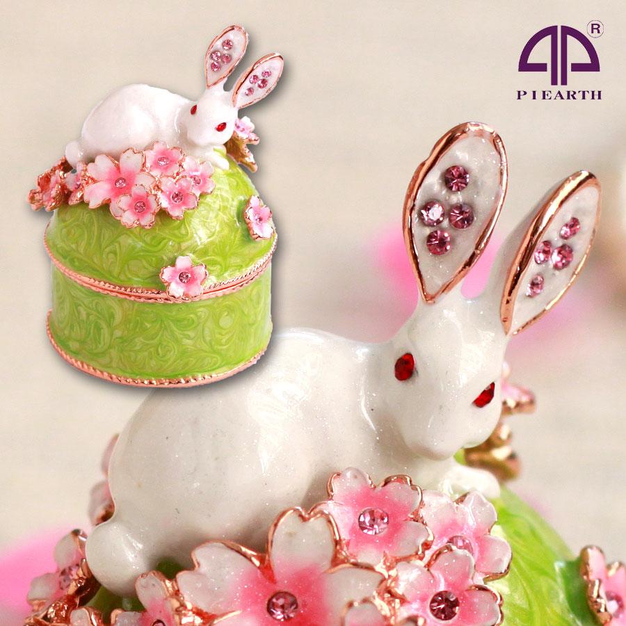 ジュエリーボックス うさぎと桜B さくら 春 お...の商品画像