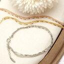 珠寶, 手錶 - 3連チェーンのフェミニンブレスレット ボールチェーン スクリューチェーン アジャスター付き 日本製 国産 シルバー ゴールド ピンクゴールド シンプル 定番 レディース メール便 送料無料