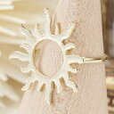 リング 指輪 ピンキーリング 太陽 サンモチーフ 極細リング シンプル ゴールド 肌なじみがいい プチプラ レディース メール便送料無料 春夏