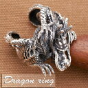 リング メンズ シルバー925 ドラゴン 龍の指輪 フリー
