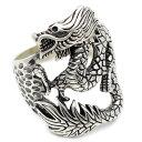 リング メンズ 龍 ドラゴンの装飾 メンズジュエリーシ