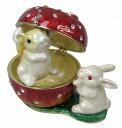ショッピングうさぎ box ボックス ボックス ペアラビットウサギ 雑貨 メール便 送料無料 クリスマスプレゼント