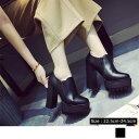 ショッピングショートブーツ 厚底 ショートブーツ レディース 履きやすい ブーティ 歩きやすい ハイヒール 太ヒール 送料無料