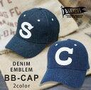 ショッピングワッペン 帽子 キャップ メンズ デニム ジーンズ BBキャップ エンブレム ワッペン PENNANTBANNERS