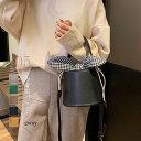 ショッピングバケツ トートショルダーバッグ レディース 春夏秋冬 バケツ型 巾着バッグ ミニ 合皮