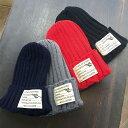 ショッピングアクリル ニット帽 メンズ レディース 秋冬 ラベル付き 大きめワッペン アクリル リブ編み