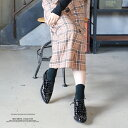 ショッピングオックス シューズ レディース 秋冬秋 スタッズ オックスフォードシューズ ポインテッドトゥ 靴 合皮 個性的 黒