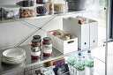 ショッピング冷蔵庫 ベジタブルストッカー 野菜室収納 根菜保存 整理ボックス スタッキング可 スライド引出 仕切り付き ホワイト ブラック 白 黒 冷蔵庫の中 仕分け 区分け