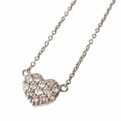 K10パヴェハート天然ダイヤモンド ペンダントネックレス[White]ブランド「me」送料無料 ラッピングボックス(箱、ケース)付きなのでプレゼントにも!