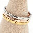 リング ピンキーリング 指輪 ステンレス 低アレルギー 傷つきにくい シンプル ダイヤカットリング オシャレ 華奢 モード エッジ