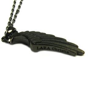 送料無料 メンズ シルバー925製ネックレス LARA Christie (ララ クリスティー) ヴィクトリア ペンダント コルセア [ BLACK Label ] 40cm OR 50cm クールな翼モチーフ!ウィングネックレス。