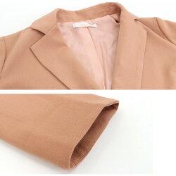 ゆったりめなデザインが大人っぽいビッグシルエットジャケット☆ゆったりビッグシルエットジャケットダブルボタンML大きめピエロpierrotぴえろpiero【返品不可】