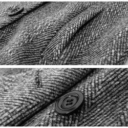[マニッシュな雰囲気がおしゃれ!]ヘリンボーン&無地2typeテーラードジャケット☆ジャケットコートコートシンプルきれいめダブルボタンピエロpierrotぴえろpiero【10月29日より順次出荷予定】【返品不可】