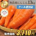 【訳あり】国産 無農薬にんじん ジュース用 13kg【送料無料】【クール便】