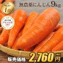 【訳あり】国産 無農薬にんじん ジュース用 9kg 送料無料...
