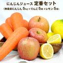 送料無料 無農薬人参ジュース定番セット(無農薬にんじん5Kg・りんご5個・レモン5個)