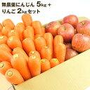 送料無料 無農薬にんじん野菜セット(無農薬にんじん5kg+りんご2kg) にんじんジュー