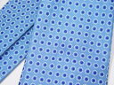 エルメス ネクタイ H8 (ブルー・フラワー柄)