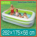 プール INTEX スイムセンター ファミリープール 262cm ビニールプール 子供用 プール 家庭用プール 長方形 大型