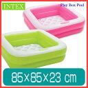 プール INTEX プレイボックスプール ビニールプール 子供用 プール ベランダ 家庭用プール 長方形 底に空気 ベビープール