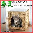 ショッピングラタン ちぐらスクエアータイプ 猫ちぐら ねこちぐら 猫つぐら ねこつぐら 猫 猫用ハウス 猫用ベッド 夏ベッド ラタン調ベッド