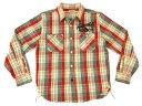 groovers 長袖シャツ グルーヴァーズ ネル チェック メンズ ワークシャツ 3110004 #03赤 新品