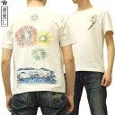 イオラニ Tシャツ 打上花火 居楽仁 iolani 別注限定モデル 総刺繍 和柄 メンズ 半袖tee 122702 オフ白 新品