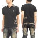 ショッピングポロシャツ グラディエイト ポロシャツ リンクスジャガード 二重衿 ロゴ刺繍 メンズ 半袖 POLO 132311 黒 新品
