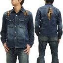 インディアンモトサイクル ウエスタンシャツ IMSL-304 ネイティブ刺繍 メンズ 長袖シャツ 新品