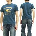 フェローズ Tシャツ マッドブフス バッファロー pherrows 定番 メンズ 半袖tee 14s-pt2 S.ブルー 新品