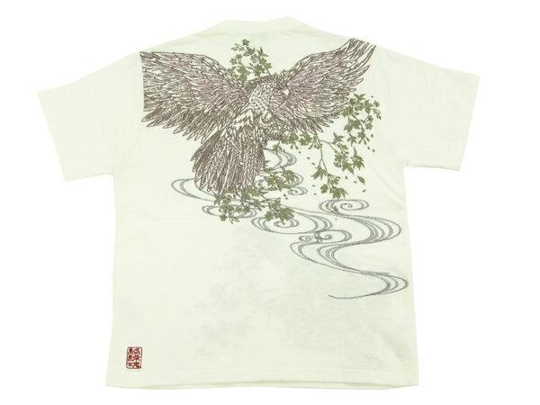 絡繰魂 Tシャツ 大鷹 総刺繍 和柄 メンズ ...の紹介画像3