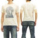 John Van Hamersveld Tシャツ ジミ・ヘンドリックス ジョン・ヴァン・ハマーズベルド メンズ 半袖tee 742702 オフ白 新品