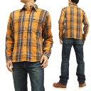 フェローズ ネルシャツ 15W-720WS Pherrow's Pherrows メンズ チェック ワークシャツ 長袖シャツ オレンジ 新品