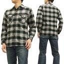 シュガーケーン チェック ワークシャツ SC27070 Sugar Cane メンズ ネルシャツ 長袖シャツ ブラック 新品