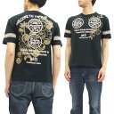ANTI アンチ Tシャツ ATT-147 ハワイアンロゴ エフ商会 メンズ 半袖tee ブラック 新品