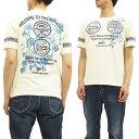 ANTI アンチ Tシャツ ATT-147 ハワイアンロゴ エフ商会 メンズ 半袖tee オフ白 新品