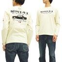 カミナリ 長袖Tシャツ KMLT-123 ブルーバード510 旧車柄 エフ商会 メンズ ロンtee オフ白 新品