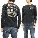 バンソン 長袖Tシャツ NVLT-617 スカル vanson ヴァンソン メンズ ロンtee ブラック 新品