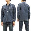 フェローズ ストライプ ラウンドヨーク ワークシャツ 16W-770WS-ST メンズ 長袖シャツ ネイビー 新品