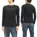 ショッピングノート ノートンモーターサイクル ビッグワッフル 長袖Tシャツ 63n1102 サーマル メンズ ロンtee ブラック 新品