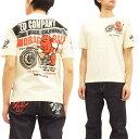 男性流行服飾 - テッドマン Tシャツ TDSS-462 バイク TEDMAN エフ商会 メンズ 半袖tee オフ白 新品