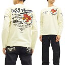 ショッピングTシャツ テッドマン 長袖Tシャツ TDLS-313 TEDMAN 海軍 エフ商会 メンズ ロンtee オフ白 新品