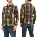 フェローズ チェック ネルシャツ 17W-720WS Pherrow's メンズ ワークシャツ 長袖シャツ ネイビー/レッド 新品