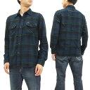 Lee ネルチェック ワークシャツ LT0596 リー メンズ ネルシャツ 長袖シャツ lt0596-367ダークブルー 新品
