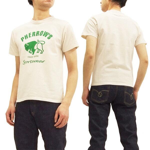 フェローズ Tシャツ PT2 Pherrow's Pherrows 定番 バッファロー メンズ 半袖tee 18S-PT2 生成 新品