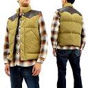 ショッピングBEST シュガーケーン SC12340 レザーヨーク ダウンベスト 東洋エンタープライズ Sugar Cane メンズ 冬用Vest ベージュ 新品