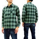 シュガーケーン SC27962 ツイルチェック ワークシャツ Sugar Cane メンズ 長袖シャツ 115グレー 新品